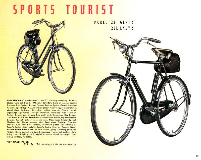 1950 raleigh sports tourist restoring vintage bicycles. Black Bedroom Furniture Sets. Home Design Ideas