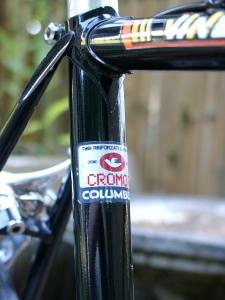 Beautiful finish work on the seat lug, Columbus Cromor tubing