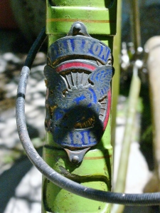 Griffon head badge