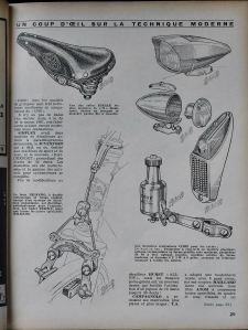 1962 Le Cycle Magazine - Daniel Rebour drawings
