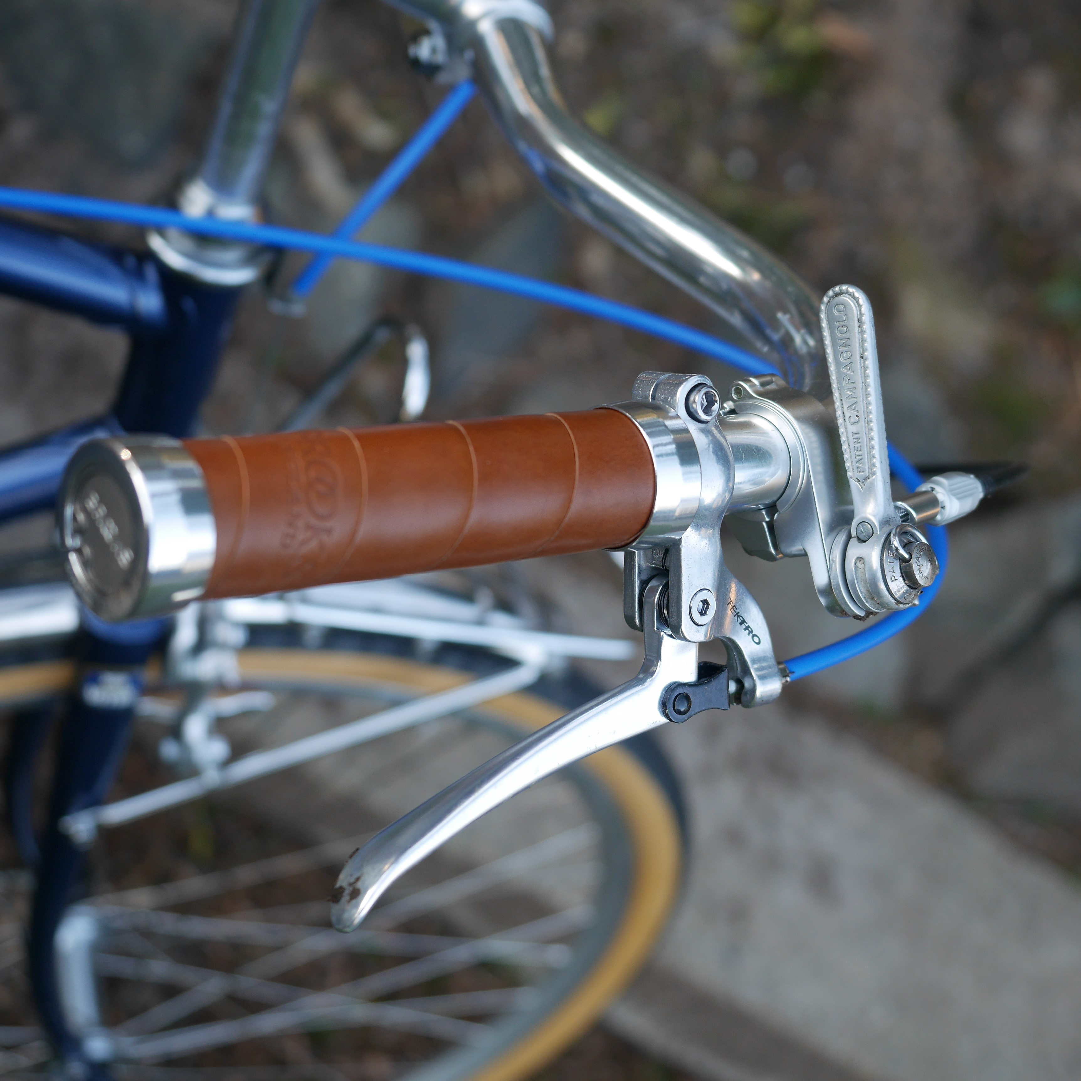 cf094bb7aba Brooks leather grips, Tektro vintage style levers, V-O thumbies, Campagnolo  shifter
