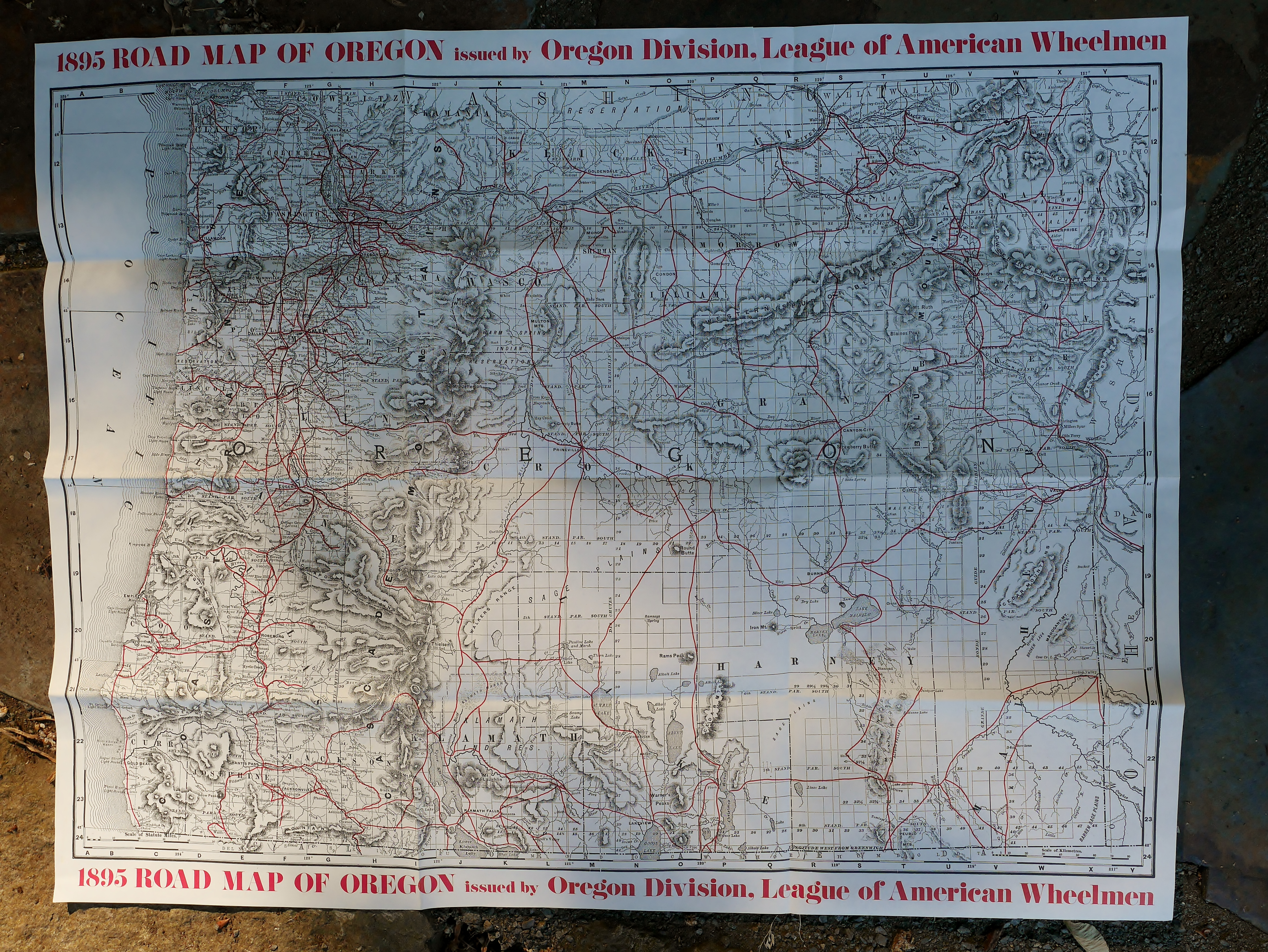 Unity Oregon Map.1897 Oregon Bicycle Guide Map Restoring Vintage Bicycles From